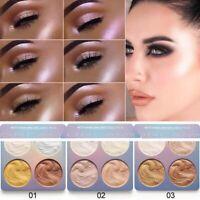 CmaaDu Face Powder Highlighter Bronzer Makeup Contour Palette Powder Glow Makeup