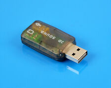 5.1 to 3.5mm Mic Headphone Jack Stereo Headset 3D Audio Sound Card USB Adapter