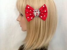 Minnie Mouse hair bow clip rockabilly pin up girl Disney mickey red polka dot
