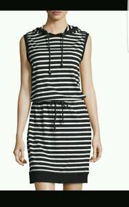 Michael kors striped dress with houdie .Sz:L