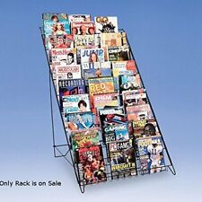 10 Shelf Magazine Display Rack - 29.5 W x 31 D x 46 H Inches