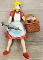 "Darkstalkers 3 Action Figure 4"" Baby Bonnie Hood Toy Biz 1999 Capcom w/ Basket"