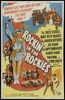 ROCKIN' IN THE ROCKIES Movie POSTER 27x40 Moe Howard Larry Fine Curly Howard