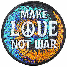 Peace Make Love Not War Freedom 70's Hippie Boho Cyclone Iron-On Patches #R039