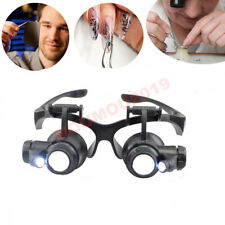 Magnifier Glasses Timepieces / Electronic Jewelry Tools Repair LED Lights Loupes