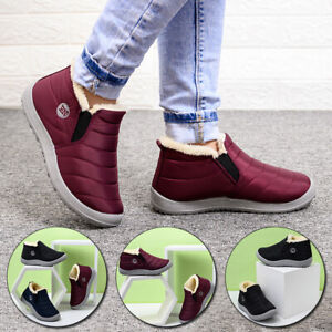 Women Waterproof Winter Shoes Snow Boots Plush-lined Warm Ankle Boot HOT