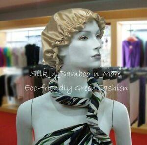 Silk Slumber Cap Sleeping Cap Night Cap Hair Care Head Cover 10 color options