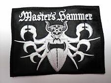 master's hammer WHITE LOGO   EMBROIDERED  PATCH