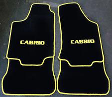 Autoteppich Fußmatten für VW Golf 1 Cabrio 1979-93 4tlg schw gelb nicht original