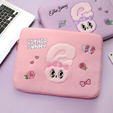 """Cute Esther Bunny 13"""" Padded Canvas ver. Laptop Tablet Notebook Pouch Sleeve Bag"""