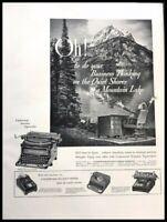 1940 Underwood Silent Typewriter Vintage Advertisement Print Art Ad Poster LG89