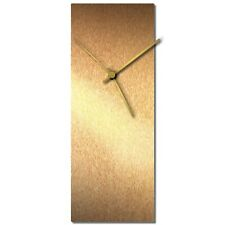 Mid-Century Modern Clock Minimalist Wall Decor Contemporary Bronze Accent