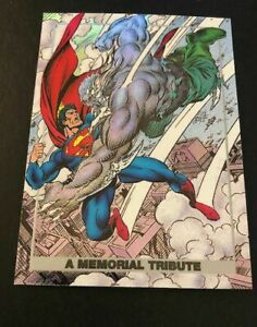 1992 SkyBox Doomsday The Death of A Memorial Tribute Superman #S1