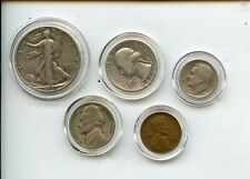 1947 US Coin Collection Including Silver 5 Different