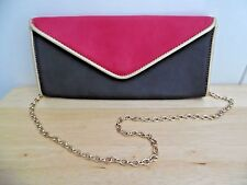 Big Buddha Red w/Black Clutch Bag with Removable Shoulder Chain, Excellent