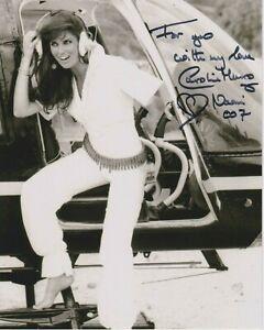 "Caroline Munro 10"" x 8"" photo signed in person - James Bond - K673"