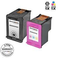 2pk Black & Color Printer Ink Cartridge for HP 61 61 Deskjet 1056