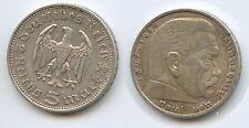 G10873 - Drittes Reich 5 Reichsmark 1936 F KM#86 Silber Hindenburg Third Reich