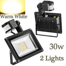 [2-Pack]  30W LED Motion Sensor Flood Light Outdoor Security Waterproof Lamp US