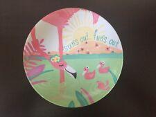 NEW! Patina Vie Kids Flamingo Melamine Plate Set of 4