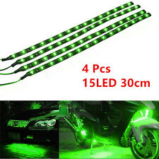4 Pcs Green 15LED 30cm Car Grille Flexible Lights Strip Chassis Atmosphere Lamps