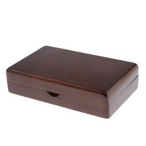 2Pcs Vintage Wooden Fly Box Slit Foam Fishing Box Flies Lure Storage Case