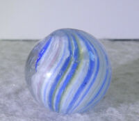 #11310m Vintage German Handmade Slightly Shrunken Onionskin Marble .70 Inches