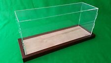 "19"" x 6"" x 8"" Table Top Acrylic Display Case Model Ships Ocean Liner wooden base"