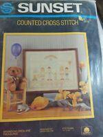 "Grandchildren Are Treasures Counted Cross Stitch Kit Sunset 2979 NOS  11"" X  14"""