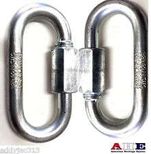 Quick Link Chain Links 2 Piece Set Medium Size 8mm Zinc Ahe New Free Shipping