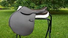 "Gorgeous 17"" Wide W Kings & Norton K-N Brown CC English Saddle Made in England"