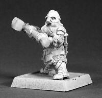 1 x DWARF KNEEBREAKER - WARLORD REAPER miniature jdr rpg nain hammer 14464