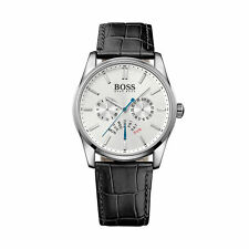 HUGO BOSS Genuine Leather Strap Adult Wristwatches