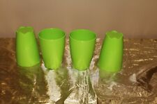 New Set of 4 Tupperware Beautiful Lime Color 18oz Tumblers