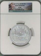 2013 P 25c 5 oz Silver ATB America the Beautiful - White Mountain SP68 NGC