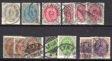 Denmark - 1875 Small lot definitives - Mi. ex. 22-31 FU
