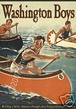 Washington Boys - Vintage 1950s Style Pulp Movie Poster