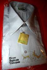 Original 70er Terrax Jagdhemd Oberhemd Hemd Gr. 46 Grau Langarm Vintage Retro
