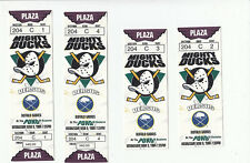 4 DUCKS VS BUFFALO SABRES TICKET STUB LOT 3/9/94 1994 DOMINIK HASEK SHUTOUT WIN