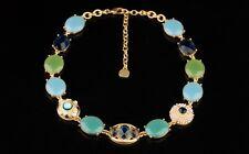 Nuevo Diseñador Azul Turquesa Cristal Abalorio Perla Collar Babero 50.8cm