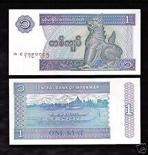 World Paper Money - Myanmar 1 Kyat  @ Crisp UNC