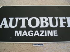 Autobuff Magazine Hat Pin and License Plate