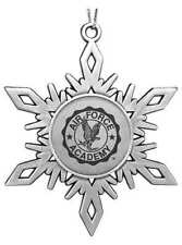 United States Air Force Academy Falcons ENGRAVED SNOWFLAKE CHRISTMAS ORNAMENT