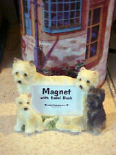 cairn terrier magnet picture frame with easel back #41