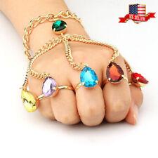 US! Marvel Thanos Gauntlet Hand Chain Bracelet Avengers The Infinity War Stones