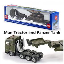 SIKU 1872/Diecast Model/1:87 Scale Man Platform Truck and Panzer Tank Toy Car