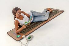 Jade Tourmaline Stones Negative Ions InfraRed Spa Yoga Heated Therapy Top Pad