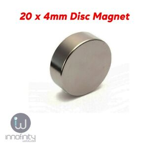 1 x Rare Earth Neo Strong 20 x 4 mm Disc Magnets