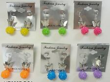 FX-85 Wholesale Earring Lot 6 pairs Drop Style Colorful Dangle Fashion Earring
