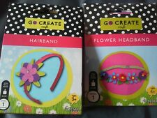 2 go create craft, kid's crafts, make a hairband & flower headband. Bnib